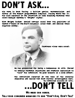 Alan Turing: Don't Ask, Don't Tell Poster Thumbnail