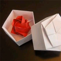 Pentagonal Gift Box origami picture